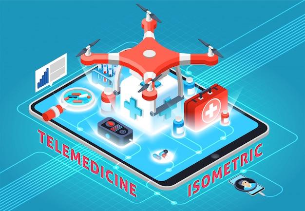 Composição isométrica de telemedicina