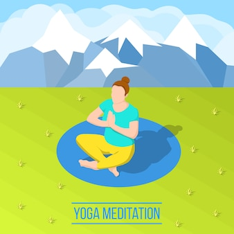 Composição isométrica de yoga