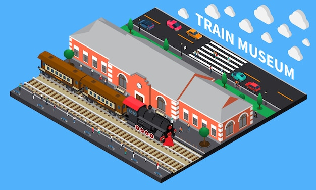 Composição isométrica do museu do trem