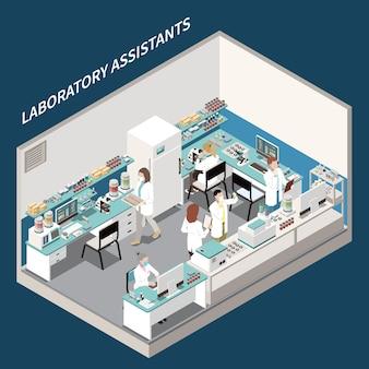 Composição isométrica do serviço de análise de diagnóstico de laboratório