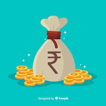Composição moderna de rúpias indianas
