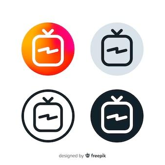 Composição moderna do instagram com estilo de gradiente