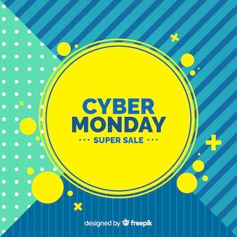 Composição moderna segunda-feira cyber com design abstrato