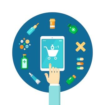 Composição on-line de farmácia