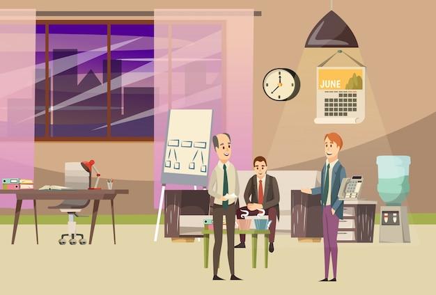 Composição ortogonal colorida do escritório