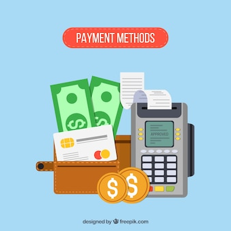 Composição plana dos métodos de pagamento