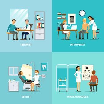 Composição quadrada de tratamento médico