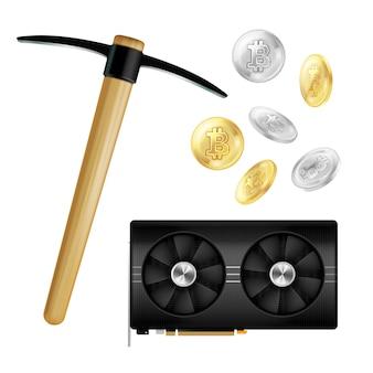Composição realista de mineração de moeda criptográfica