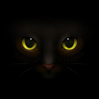 Composição realista de monstro de gato