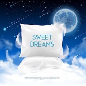 Composição realista de sono noturno