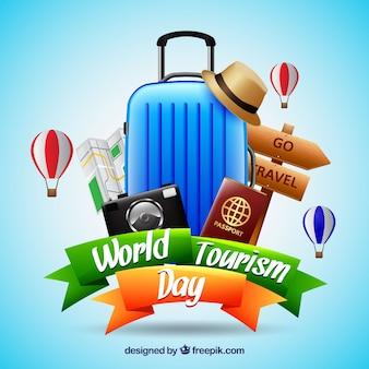 Composição realista do dia do turismo mundial