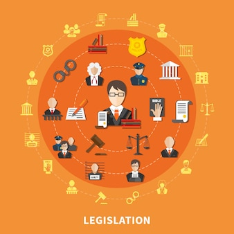 Composição redonda da lei