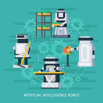 Composição redonda de inteligência artificial