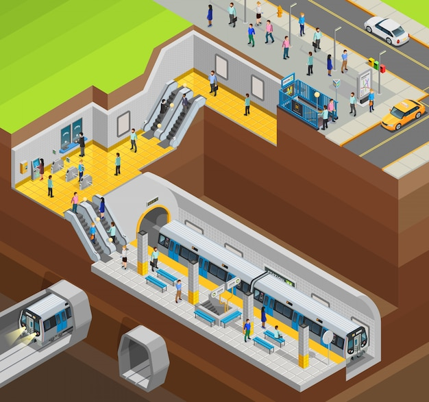 Composição subterrânea do projeto