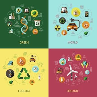 Composições coloridas de ecologia