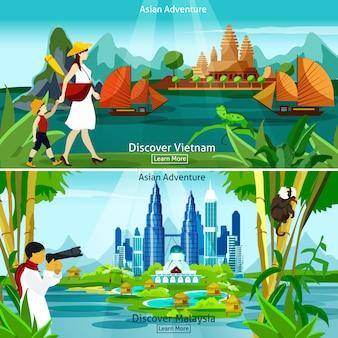 Composições de viagens no vietnã e na malásia