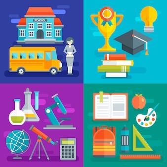 Composições do plano escolar