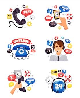 Composições planas de call center de suporte