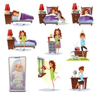 Composições planas de despertar matutino