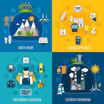 Composições planas de eletricidade