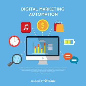 Compositio de marketing digital moderno