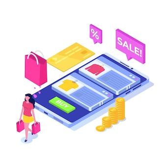 Compra de roupas online, vendas de e-commerce, marketing digital.