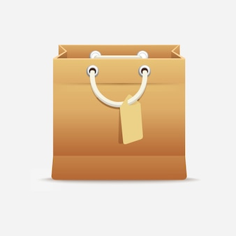 Compra de sacolas de papelão