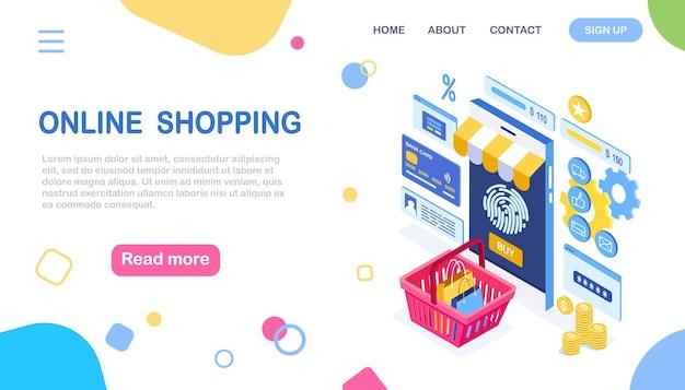 Compra online, conceito de venda