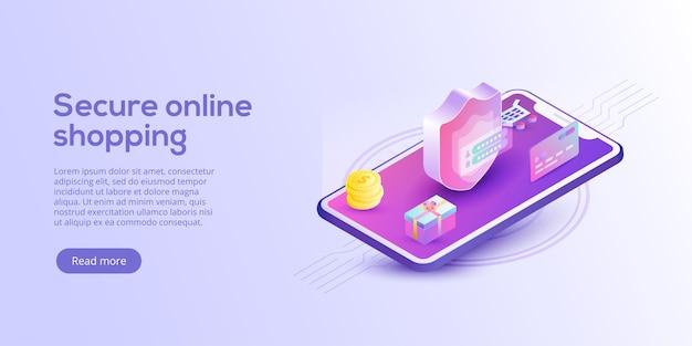 Compra online ou página de destino de comércio eletrônico
