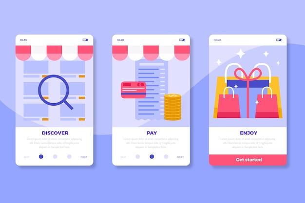 Comprar coleção de telas de aplicativos on-line on-line