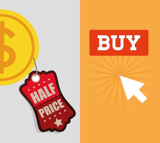 Comprar on-line meia bandeira de moeda de preço