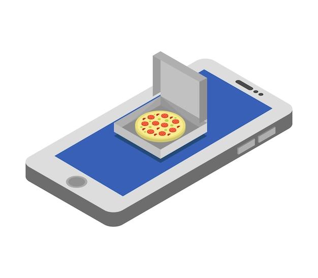 Comprar pizza isométrica online