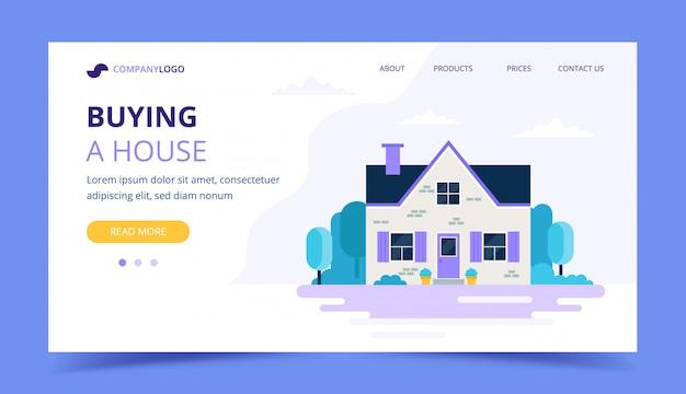 Comprar um modelo de página de destino da casa.