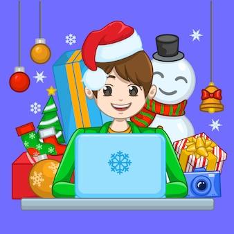 Compras de Natal de Guy