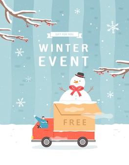 Compras de venda de inverno e natal, férias ou sexta-feira negra