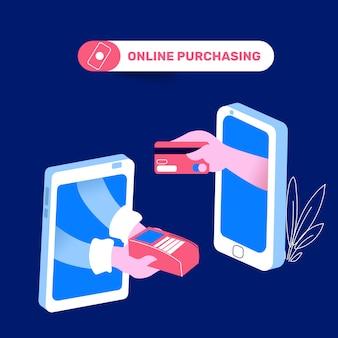 Compras on-line com cartão de crédito por aplicativos móveis