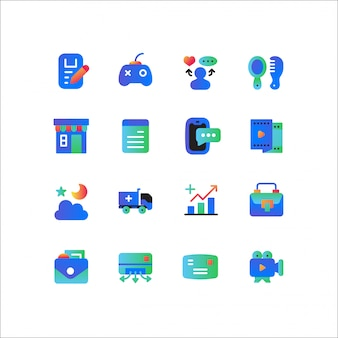 Compras on-line, conjunto de ícones de comércio eletrônico