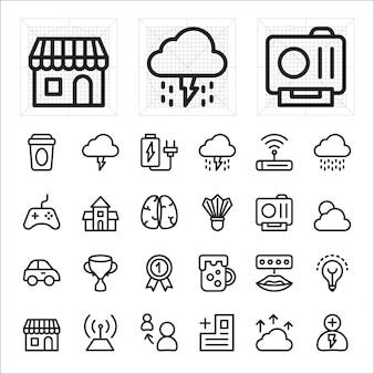Compras on-line, ícone de comércio eletrônico