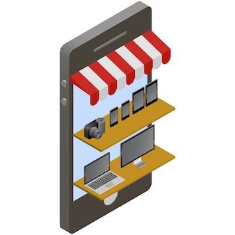 Compras on-line loja isométrica