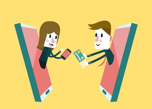 Compras on-line, loja online no telefone inteligente. conceito de negócios e marketing digital.