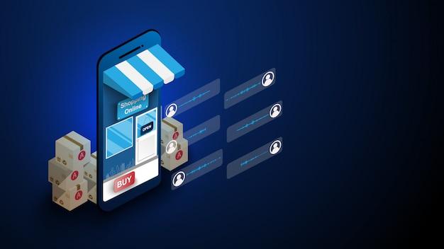 Compras on-line no telefone inteligente