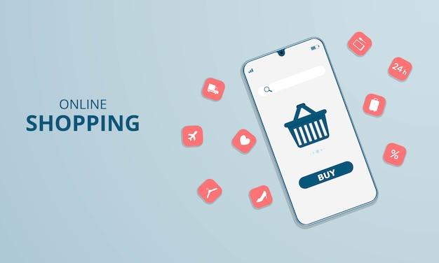 Compras online no site ou aplicativo móvel