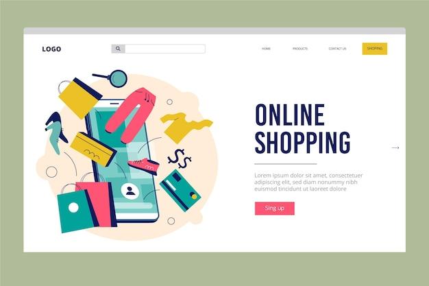 Compras online - página de destino