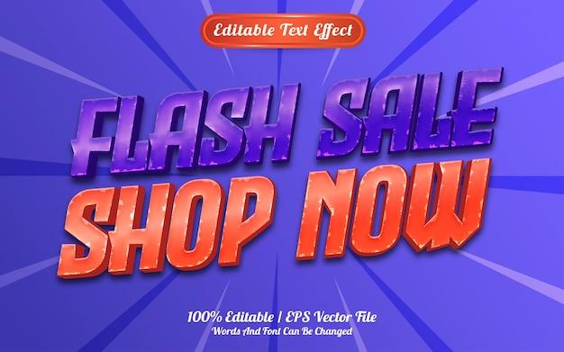 Compre agora estilo de modelo de efeito de texto
