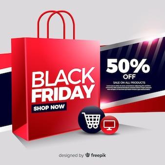 Compre agora preto sexta-feira banner