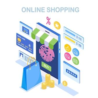 Compre em loja de varejo na internet