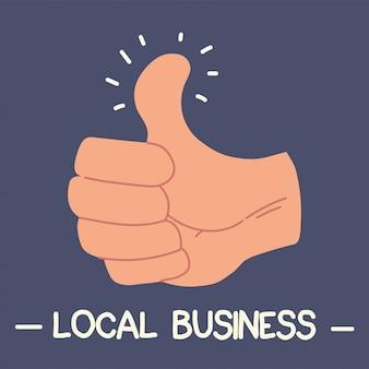 Compre local, apoie negócios locais