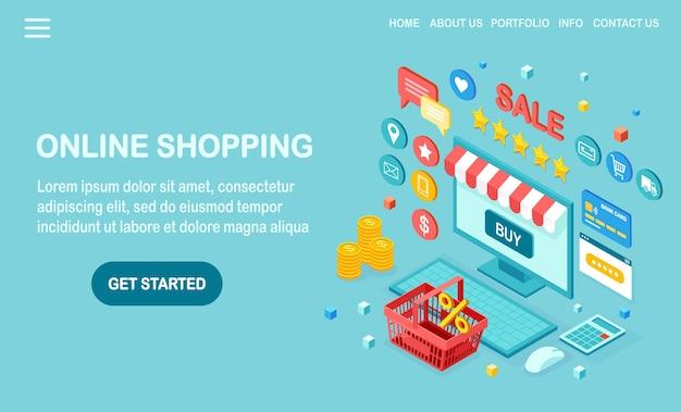 Compre na loja de varejo pela ilustração da internet