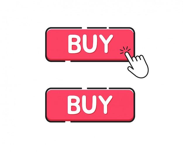 Compre o ícone do botão. clique no botão comprar