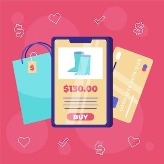 Compre online no celular
